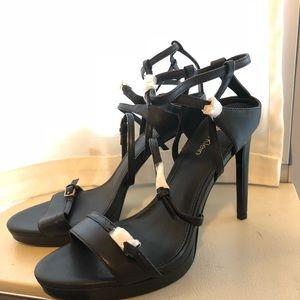Calvin Klein Black Strappy Heels